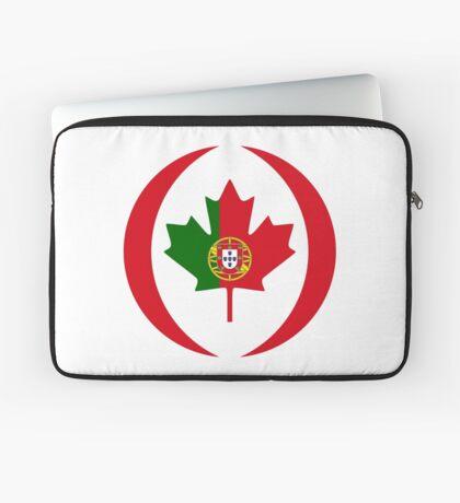 Portuguese Canadian Multinational Patriot Flag Series Laptop Sleeve