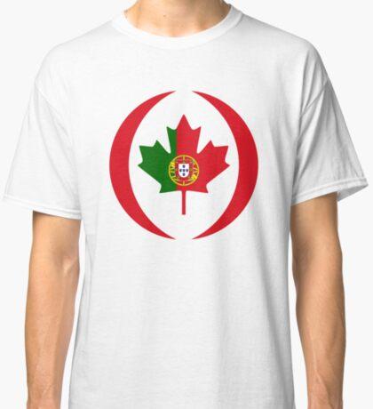 Portuguese Canadian Multinational Patriot Flag Series Classic T-Shirt