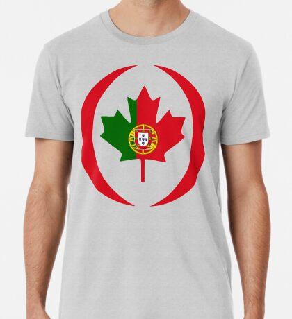 Portuguese Canadian Multinational Patriot Flag Series Premium T-Shirt