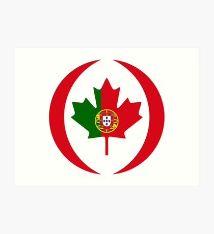 Portuguese Canadian Multinational Patriot Flag Series Art Print