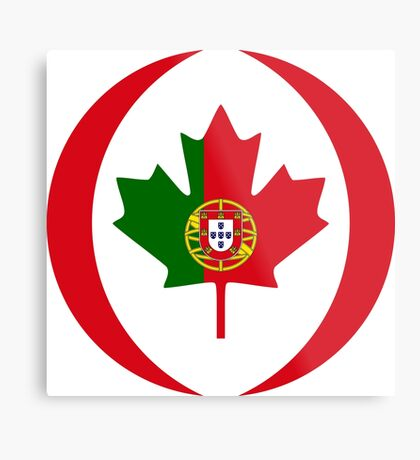 Portuguese Canadian Multinational Patriot Flag Series Metal Print