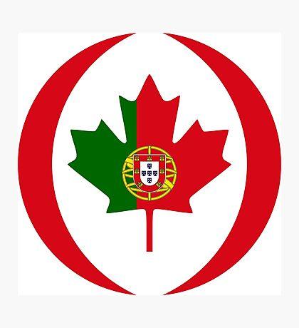 Portuguese Canadian Multinational Patriot Flag Series Photographic Print
