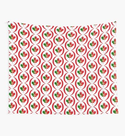 Portuguese Canadian Multinational Patriot Flag Series Wall Tapestry