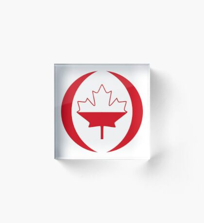 Polish Canadian Multinational Patriot Flag Series Acrylic Block