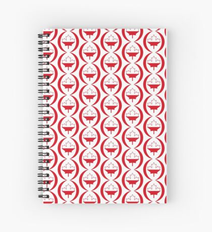 Polish Canadian Multinational Patriot Flag Series Spiral Notebook