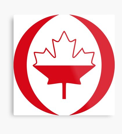 Polish Canadian Multinational Patriot Flag Series Metal Print