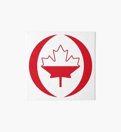 Polish Canadian Multinational Patriot Flag Series Art Board Print