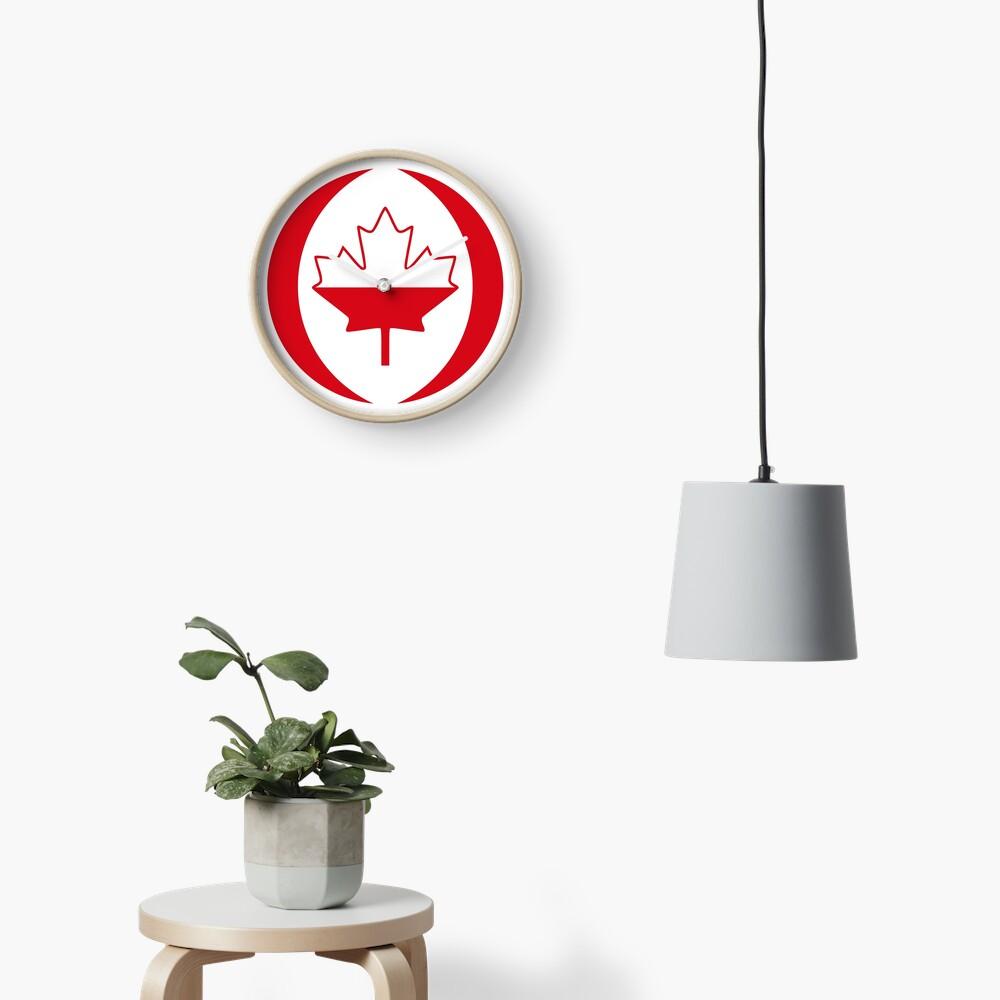 Polish Canadian Multinational Patriot Flag Series Clock