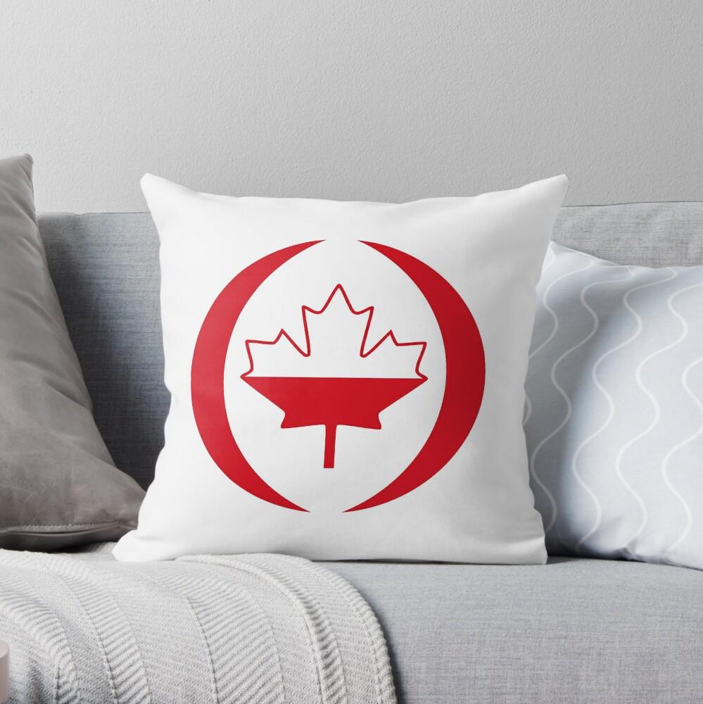 Polish Canadian Multinational Patriot Flag Series Throw Pillow