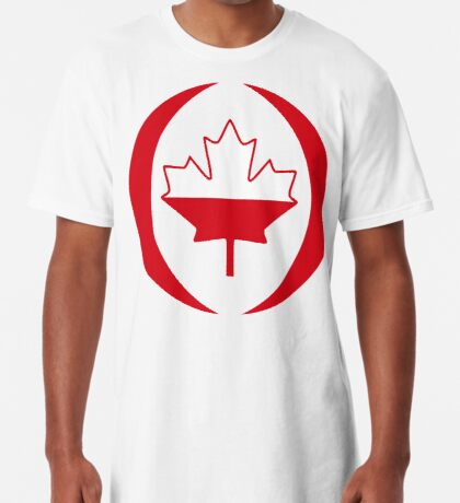 Polish Canadian Multinational Patriot Flag Series Long T-Shirt