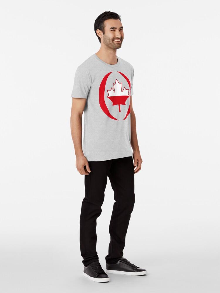 Alternate view of Polish Canadian Multinational Patriot Flag Series Premium T-Shirt
