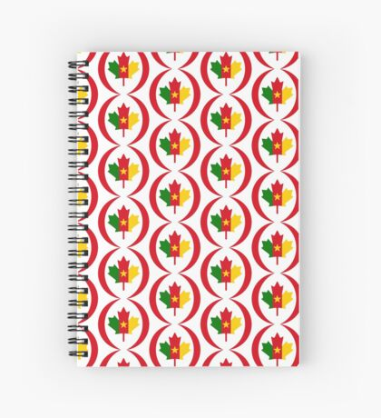 Cameroon Canadian Multinational Patriot Flag Series Spiral Notebook