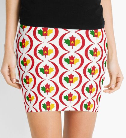 Cameroon Canadian Multinational Patriot Flag Series Mini Skirt