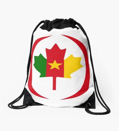 Cameroon Canadian Multinational Patriot Flag Series Drawstring Bag