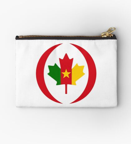 Cameroon Canadian Multinational Patriot Flag Series Zipper Pouch