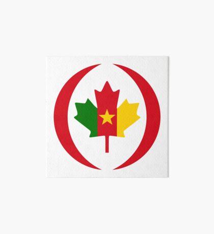 Cameroon Canadian Multinational Patriot Flag Series Art Board Print