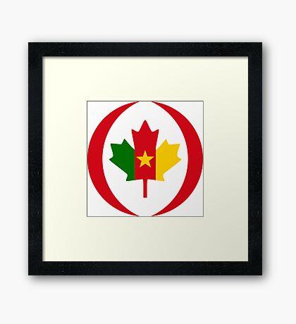 Cameroon Canadian Multinational Patriot Flag Series Framed Print