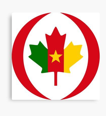 Cameroon Canadian Multinational Patriot Flag Series Canvas Print