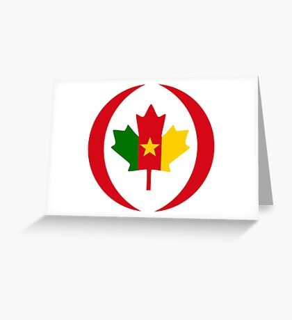 Cameroon Canadian Multinational Patriot Flag Series Greeting Card