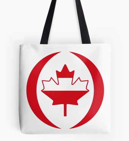 Austrian Canadian Multinational Patriot Flag Series Tote Bag