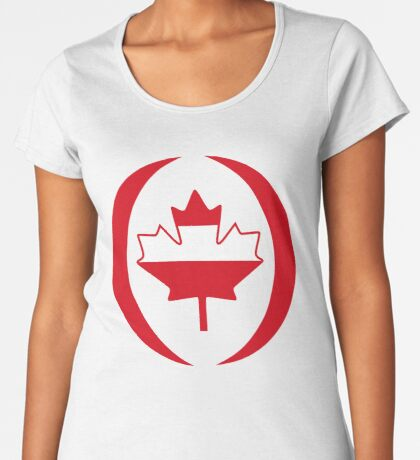 Austrian Canadian Multinational Patriot Flag Series Premium Scoop T-Shirt
