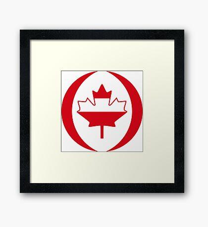 Austrian Canadian Multinational Patriot Flag Series Framed Print
