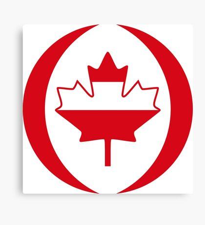 Austrian Canadian Multinational Patriot Flag Series Canvas Print