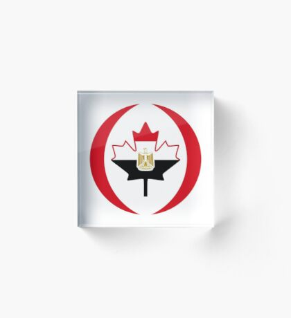 Egyptian Canadian Multinational Patriot Flag Series Acrylic Block