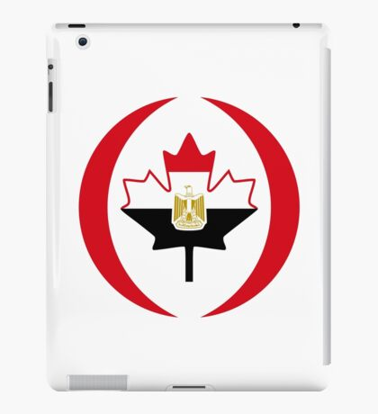 Egyptian Canadian Multinational Patriot Flag Series iPad Case/Skin