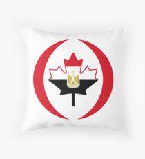 Egyptian Canadian Multinational Patriot Flag Series Throw Pillow