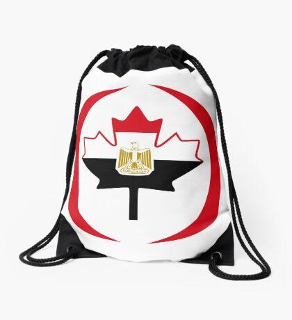 Egyptian Canadian Multinational Patriot Flag Series Drawstring Bag