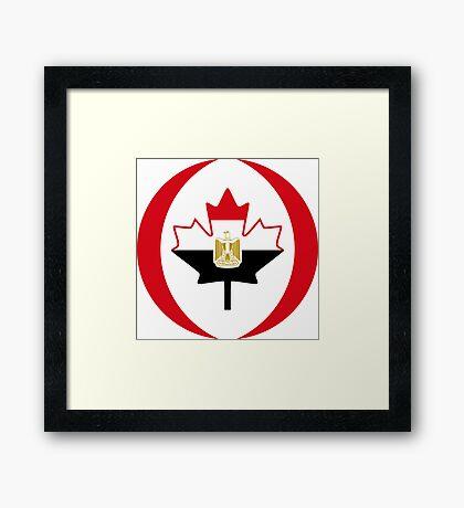 Egyptian Canadian Multinational Patriot Flag Series Framed Print