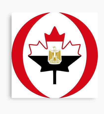 Egyptian Canadian Multinational Patriot Flag Series Canvas Print