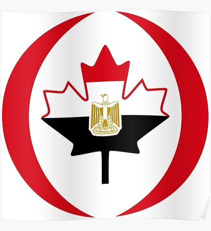Egyptian Canadian Multinational Patriot Flag Series Poster