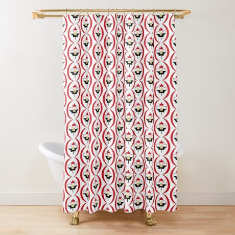 Egyptian Canadian Multinational Patriot Flag Series Shower Curtain