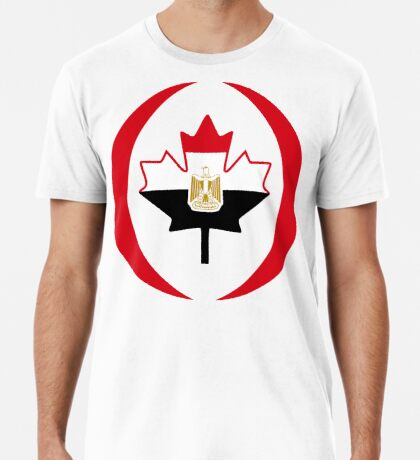 Egyptian Canadian Multinational Patriot Flag Series Premium T-Shirt