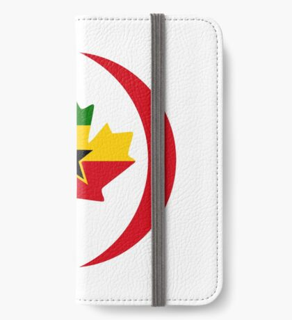 Ghanaian Canadian Multinational Patriot Flag Series iPhone Wallet