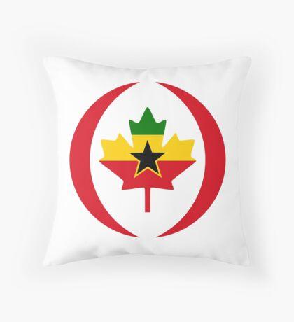 Ghanaian Canadian Multinational Patriot Flag Series Throw Pillow