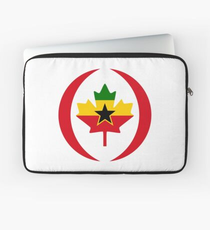 Ghanaian Canadian Multinational Patriot Flag Series Laptop Sleeve