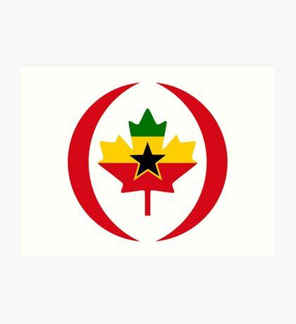 Ghanaian Canadian Multinational Patriot Flag Series Art Print