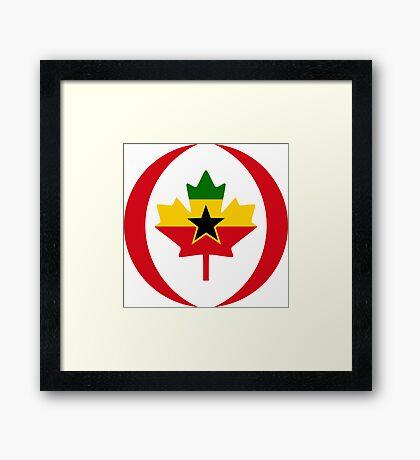 Ghanaian Canadian Multinational Patriot Flag Series Framed Print