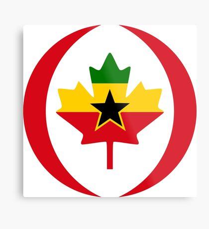 Ghanaian Canadian Multinational Patriot Flag Series Metal Print