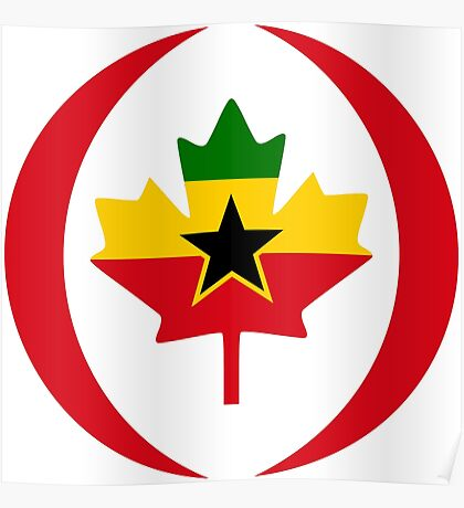 Ghanaian Canadian Multinational Patriot Flag Series Poster