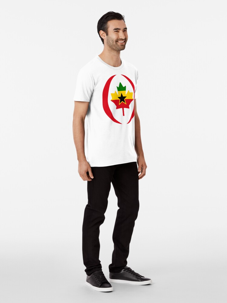 Alternate view of Ghanaian Canadian Multinational Patriot Flag Series Premium T-Shirt