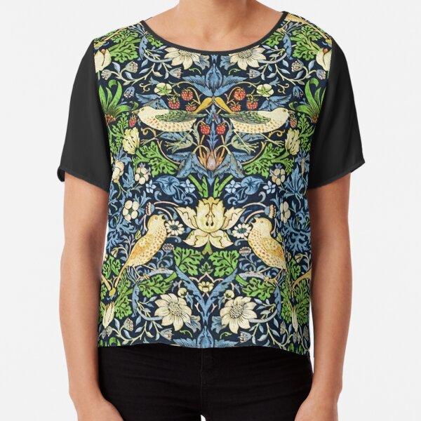 Art Nouveau Bird and Flower Tapestry Chiffon Top