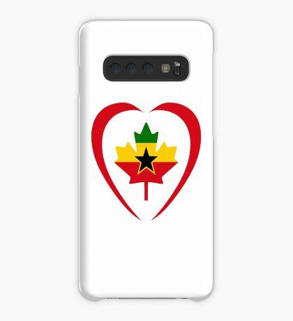 Ghanaian Canadian Multinational Patriot Flag Series (Heart) Case/Skin for Samsung Galaxy