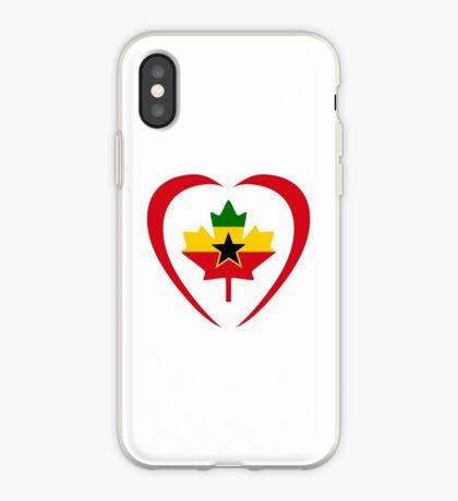 Ghanaian Canadian Multinational Patriot Flag Series (Heart) iPhone Case