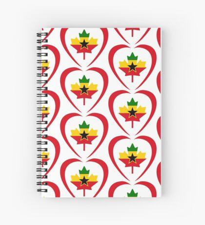Ghanaian Canadian Multinational Patriot Flag Series (Heart) Spiral Notebook