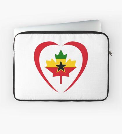 Ghanaian Canadian Multinational Patriot Flag Series (Heart) Laptop Sleeve