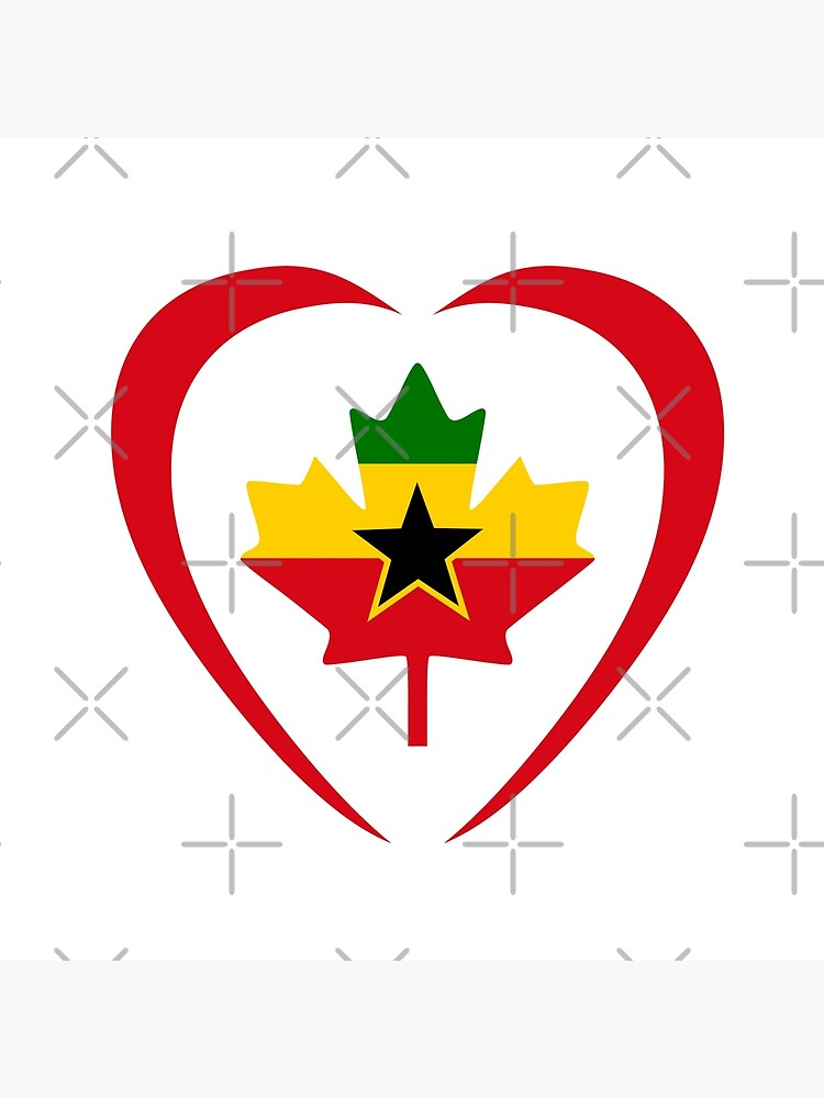 Ghanaian Canadian Multinational Patriot Flag Series (Heart) by carbonfibreme